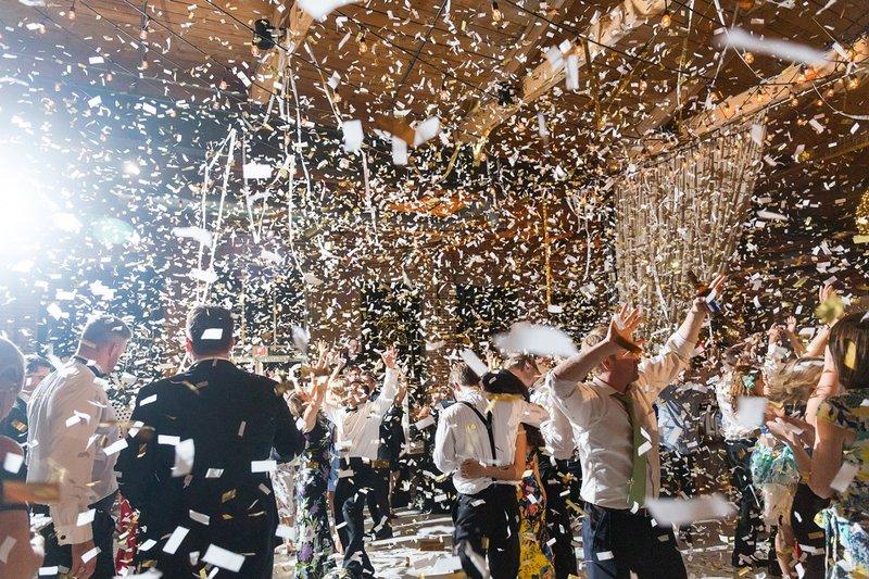 Confetti Over Crowd