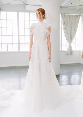 marchesa-bridal-fall-2018-collection-wedding-dress-high-neck-ruffle-bridal-gown-skirt