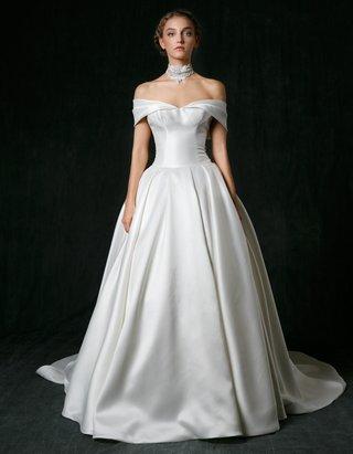 sareh-nouri-fall-2017-wedding-dress-madison-ball-gown-mikado-silk-off-shoulder-straps-pleated-skirt