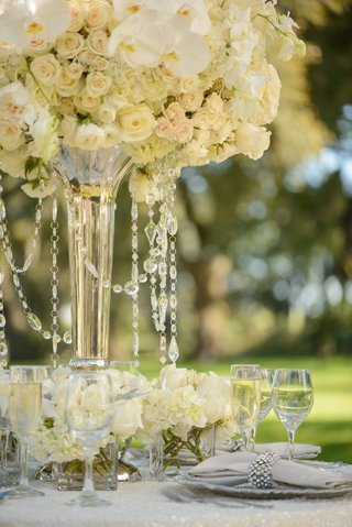 white-and-ivory-centerpiece-with-hanging-crystals