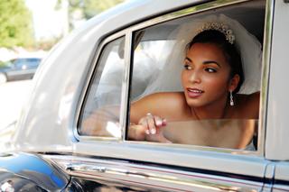 african-american-bride-in-silver-wedding-car