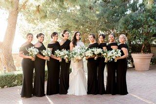 galia-lahav-bridesmaid-dresses-black-long-for-charlise-castro-houston-astros-george-springer