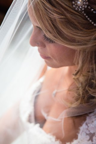 bridal-portrait-bride-with-lace-wedding-dress-teardrop-necklace-long-hair-nose-ring-eyelashes