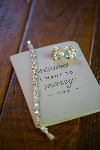 reasons-i-want-to-marry-you-booklet-crystal-earrings-and-tennis-bracelet-calligraphy