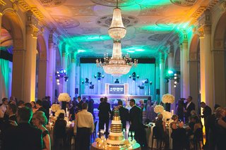 wedding-reception-at-biltmore-ballrooms-in-atlanta-with-lighting-cake-dj-booth-countdown-party-favor