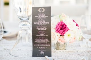 black-pink-and-gold-wedding-menu-carving-station-taco-station-salad-station-seafood-station