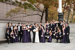 long-bridesmaid-dresses-with-different-necklines-in-dark-purple