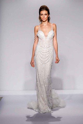 pnina-tornai-for-kleinfeld-2016-sheath-wedding-dress-with-draped-swarovski-crystal-strands