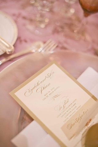 white-and-gold-border-wedding-dinner-menu-stationery