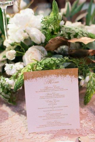 demarco-murray-and-heidi-mueller-wedding-menu-card-gold-rustic-style