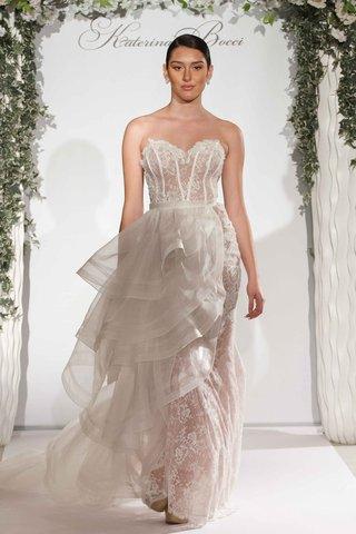katerina-bocci-2017-bridal-collection-izabella-wedding-dress-strapless-lace-corset-bodice-ruffles