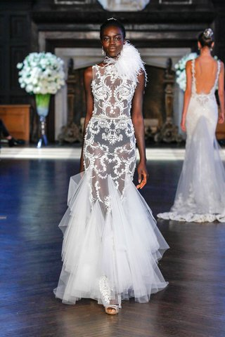 alon-livne-white-fall-2016-sheer-lace-wedding-dress-with-godet-tulle-skirt-and-ostrich-feather