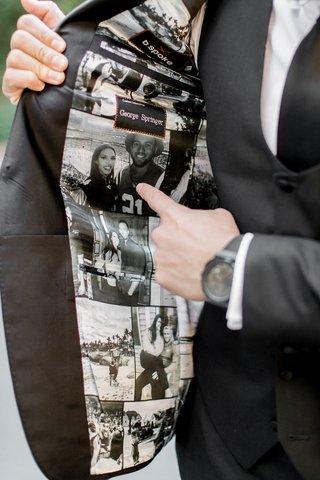 houston-astros-mlb-player-george-springer-iii-wedding-tuxedo-custom-photos-on-inside-of-jacket