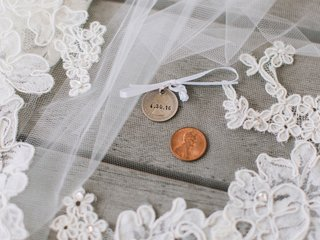 brides-lace-veil-with-sixpence-and-penny-lucky-tradition
