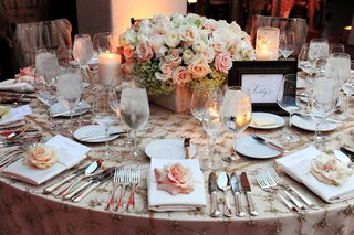 elegant-wedding-table-with-rose-and-hydrangea-centerpiece