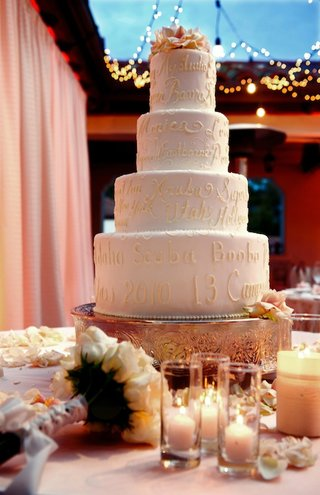 wedding-cake-with-icing-of-bride-and-grooms-memories