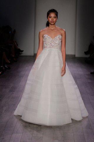 hayley-paige-2016-a-line-wedding-dress-with-metallic-flower-print-bodice