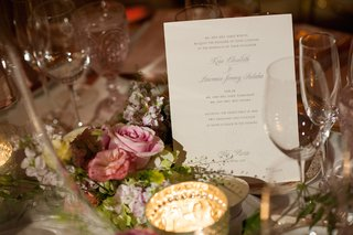 white-card-with-metallic-letterpress-situated-in-flower-arrangement