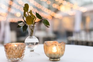 natural-reception-decor-leaves-in-bud-vases