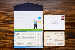 wedding-invitation-suite-with-components-that-looked-like-airline-tickets