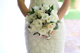 classic-bridal-bouquet-white-greenery-dominican-republic-wedding-small-lovely-romantic