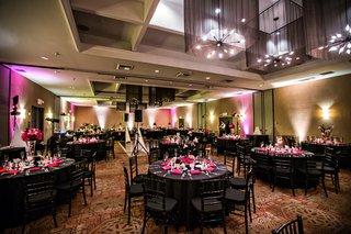 room-shot-of-hotel-maya-wedding-reception-pink-and-black