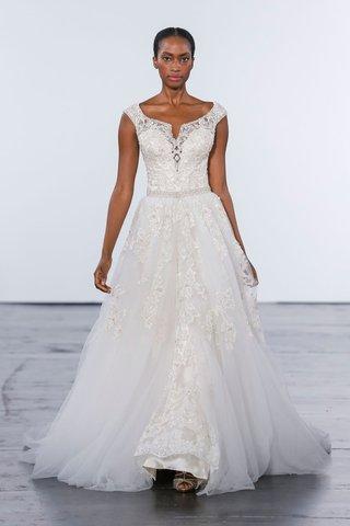dennis-basso-for-kleinfeld-2018-collection-wedding-dress-detachable-skirt-gown-off-shoulder-beading