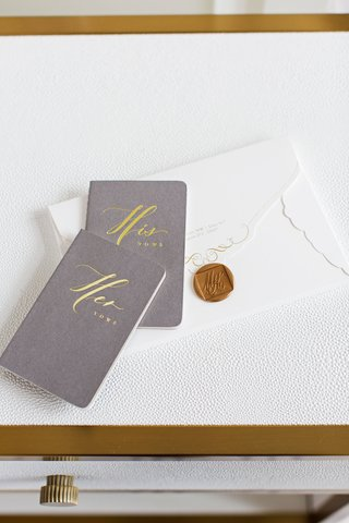grey-and-gold-his-and-her-vows-books-with-envelope-from-wedding-invitation-gold-wax-seal