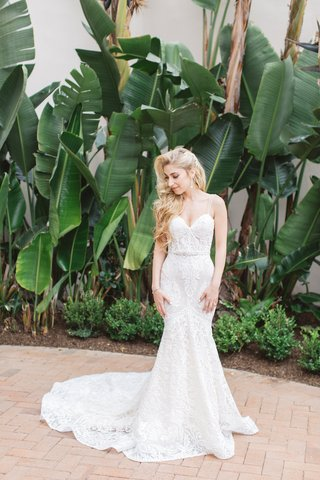 bride-fit-and-flare-dress-intricate-detailing-berta-bridal-designer-belt-sexy-sweetheart-straps