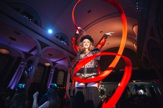 circus-performer-ribbon-dancer-during-wedding-reception-alternative-wedding-entertainment
