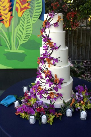 five-layer-white-cake-decorated-with-orchids