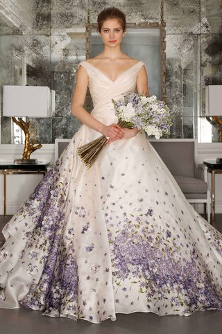 romona-keveza-luxe-collection-bridal-v-neck-ball-gown-with-purple-flower-print-on-skirt