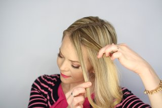 step-number-two-of-knotted-updo-wedding-hairstyle-tutorial