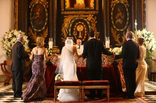 couple-both-sets-parents-catholic-church-ceremony-dominican-republic-wedding-religious-traditional
