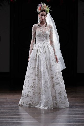 silver-embroidery-long-sleeve-ball-gown-wedding-dress-by-naeem-khan-fall-2016