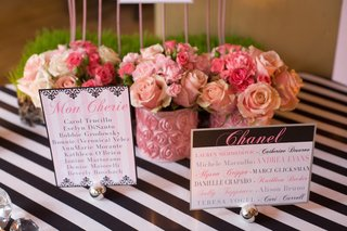 pink-flower-arrangements-and-table-name-cards