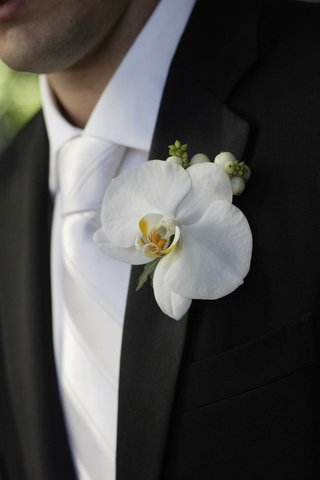 large-white-orchid-flower-boutonniere
