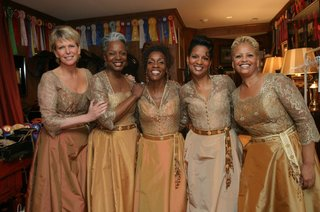bridesmaids-in-golden-and-copper-bob-mackie-dresses