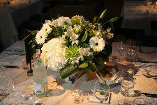 daisy-hydrangea-and-lily-wedding-centerpiece