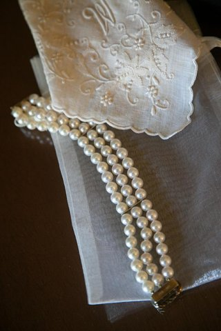 three-strand-pearl-bracelet-with-clasp-and-hanky