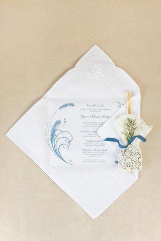 invitations-printed-on-linen-handkerchiefs