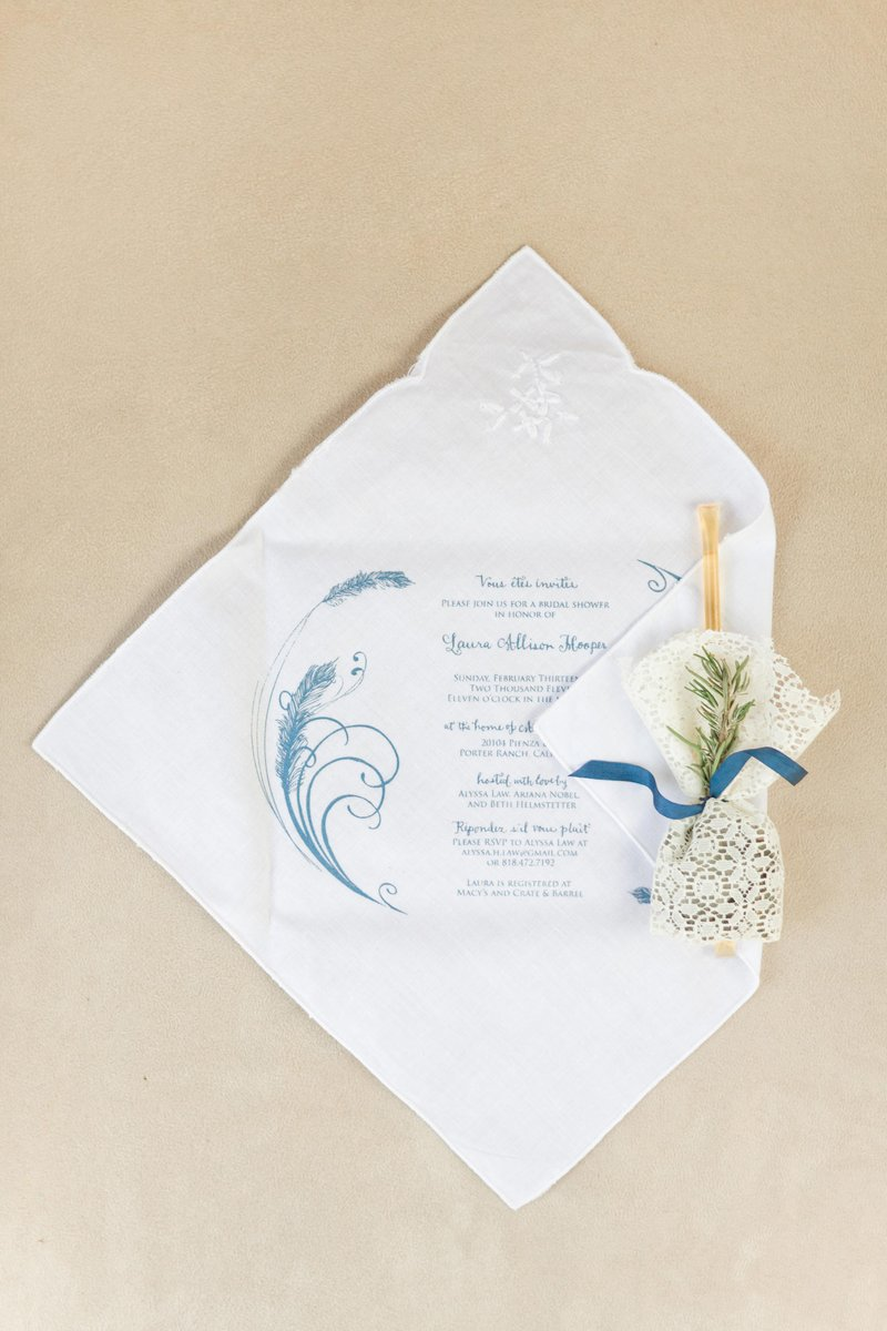Linen Handkerchief Invitations