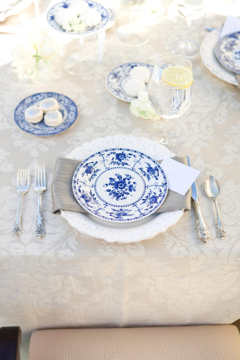 Parisian-Inspired Brunch Place Setting