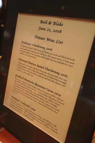 wine-descriptions-in-a-brown-frame-on-display