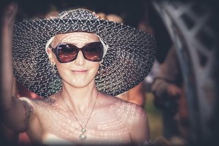jen-bulik-in-sun-hat-and-sunglasses-at-her-wedding