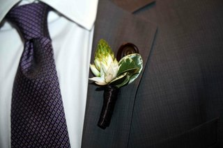 flower-boutonniere-with-protea-like-flower-and-fern