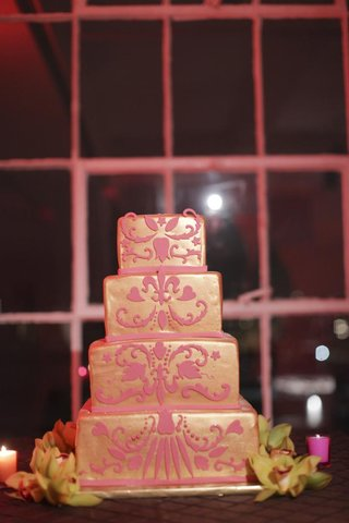 square-four-layer-cake-with-textured-design