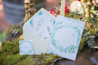 green-blue-watercolor-floral-invitations-white-background-celtic-wedding