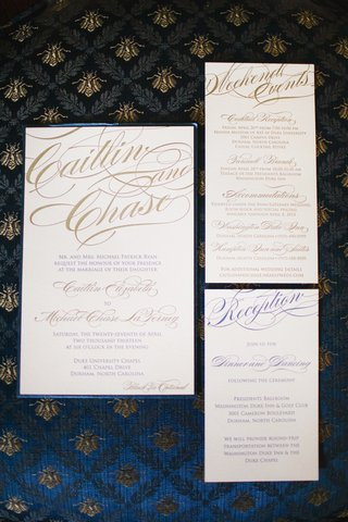 wedding-invite-cards-with-blue-and-gold-script-font