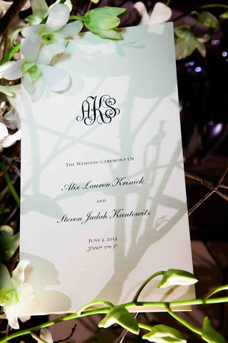 wedding-ceremony-program-with-couples-monogram